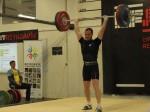 Daði Reynir Kristleifsson úr Lyftingafélagi Reykjavíkur lyfti 124 kg. í Jafnhendingu og setti íslandsmet í 77 kg. flokki karla.