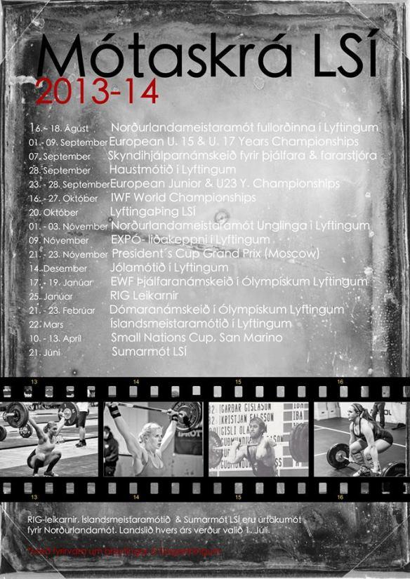 Mótaskrá 2013