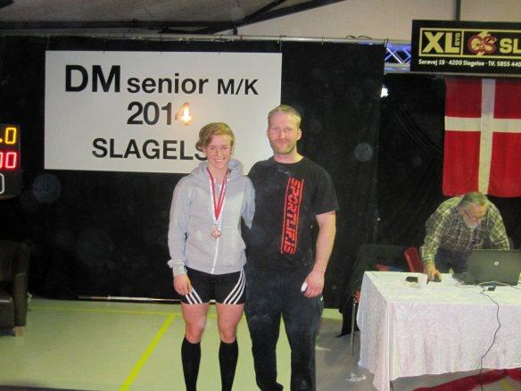 Eik Gylfadóttir og Guðmundur Borgar Ingólfsson eftir keppni á Danska meistaramótinu