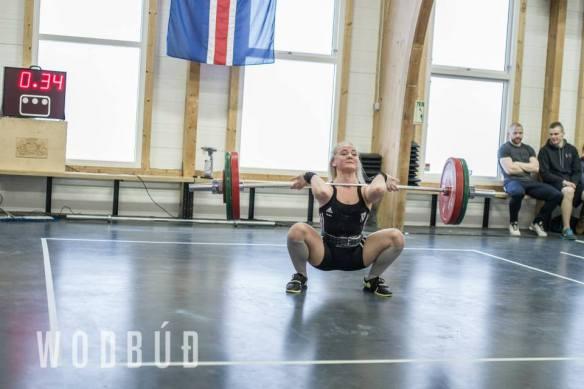 Glódís Guðgeirsdóttir (FH) reyndi við 95kg í síðustu tilraun en náði ekki að standa upp með þyngdina
