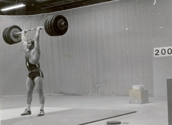 Guðmundur lyfti 200kg í jafnhendingu stuttu eftir ólympíuleikana 1976