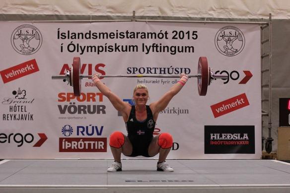 Katrín Tanja lyfti 85kg í snörun á Íslandsmeistaramótinu í Ólympískum Lyftingum fyrr á þessu ári